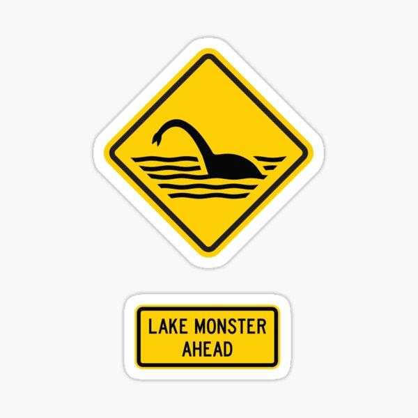 Lake Monster Ahead Sticker