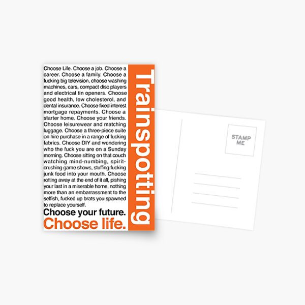 Choose life. Postcard