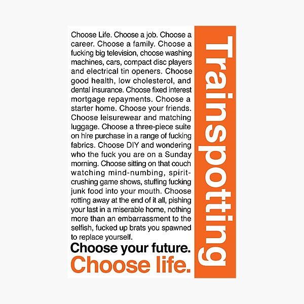 Choose life. Photographic Print