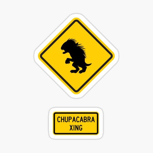 Chupacabra Xing Sticker