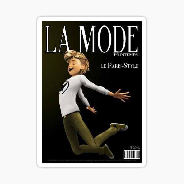 Adrien Agrete magazine cover Pegatina