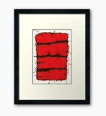 Red element Framed Print