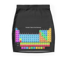 Periodic Table of the Chemical Elements on Black Mini Skirt