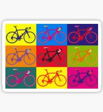 Bike Andy Warhol Pop Art Sticker