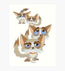 The Moods Of Grumpy Cat Art Print