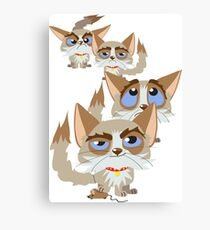 The Moods Of Grumpy Cat Canvas Print