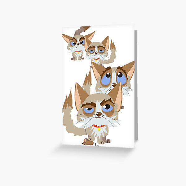 The Moods Of Grumpy Cat Greeting Card