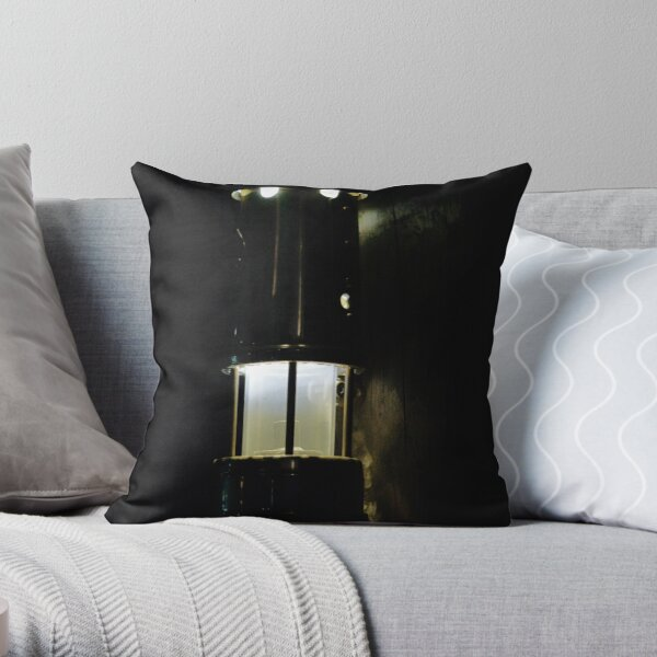 Miners Lamp Throw Pillow