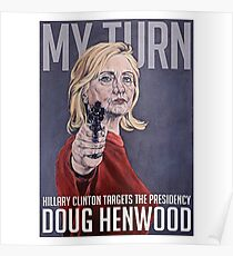 hillary clinton campaign drawing posters redbubble