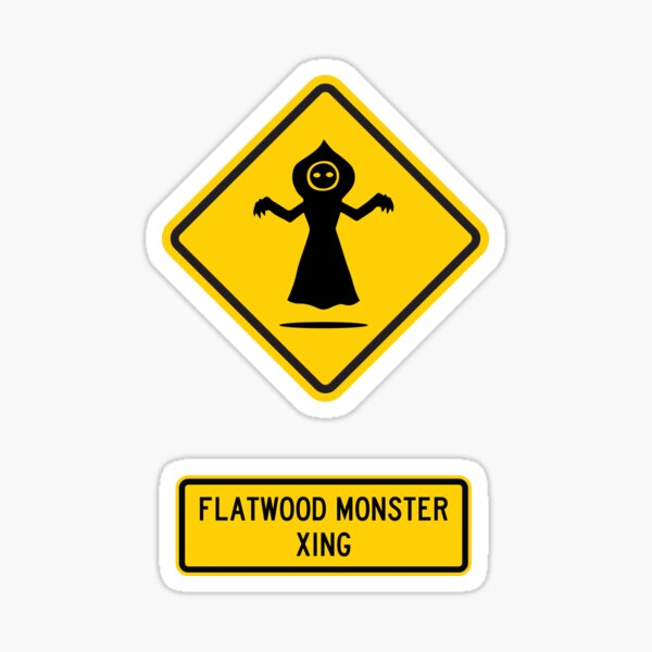 Flatwoods Monster Xing Sticker