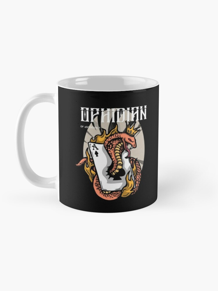 Alternate view of Ophidian Of Ascendancy Holds All The Aces Dark Design Mug