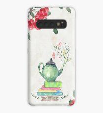 Books & Tea Watercolor Case/Skin for Samsung Galaxy