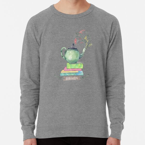 Bücher & Tee Aquarell Leichter Pullover