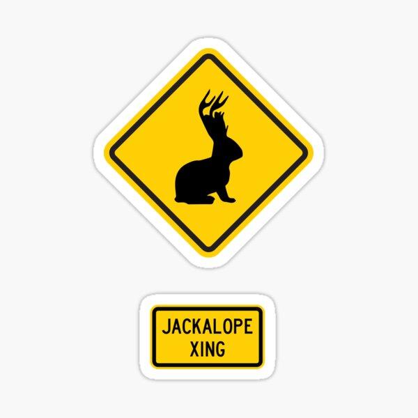 Jackalope Xing Sticker
