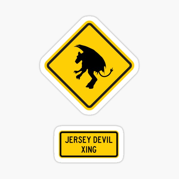 Jersey Devil Xing Sticker