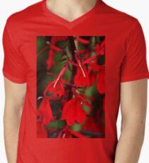 Vision In Red Men's V-Neck T-Shirt