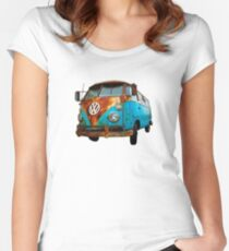 VW Bus Rusted Women's Fitted Scoop T-Shirt