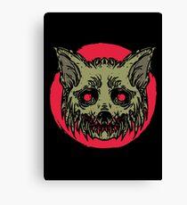 Evil Dirty Zombie Cat Canvas Print