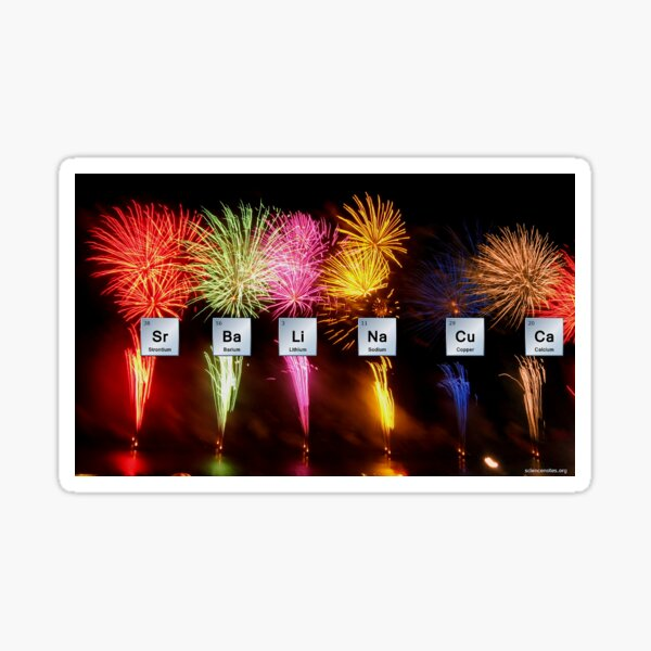 Firework Colors Chemistry - Elements Sticker