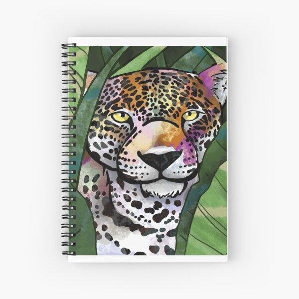 Coloured Leopard Spiral Notebook