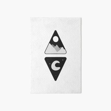Duality minimal artwork (sun and moon) Art Board Print