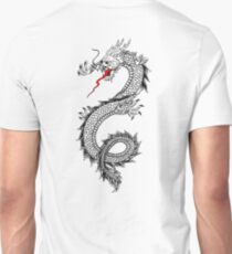 DRAGON, Cinese, Tattoo, Snake, Oriental, Far East, Tattoo, on White T-Shirt