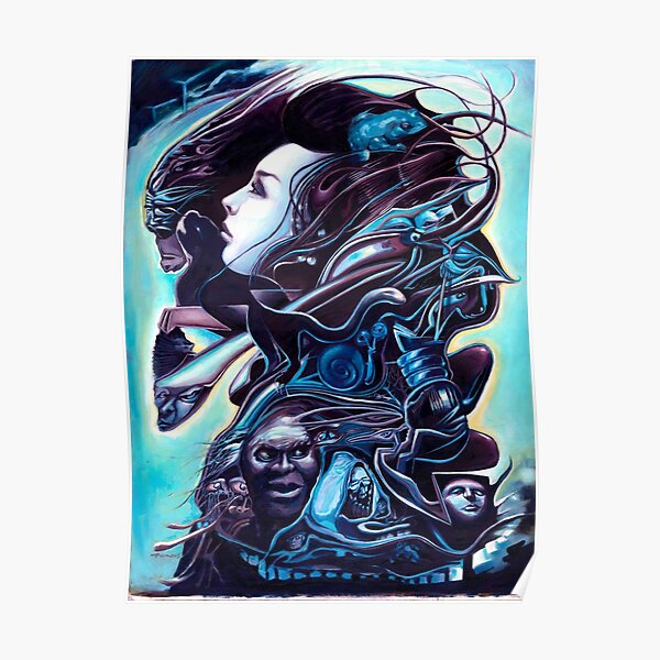 Lady in Blue Poster