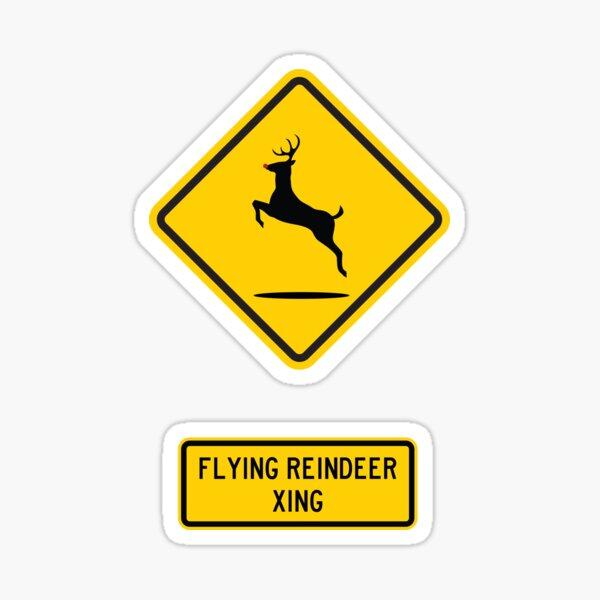 Rudolph (Flying Reindeer) Xing Sticker