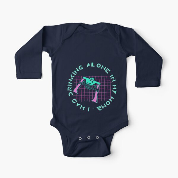 Alone in Womb Long Sleeve Baby One-Piece