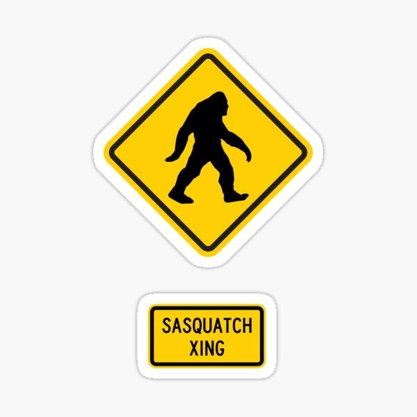 Sasquatch Xing Sticker