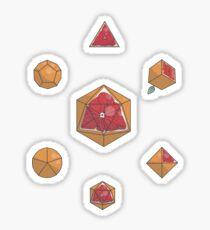 Fruit Dice set, blood orange variant Sticker