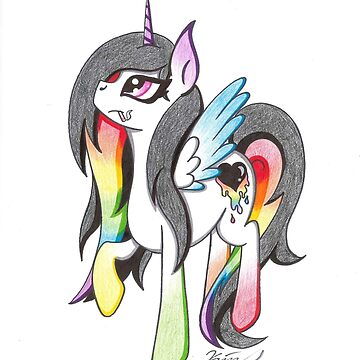 Rainbow Alicorn Original MLP Pony by KimmieKat97