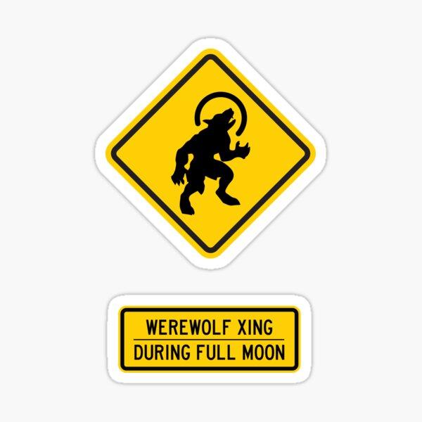 Werewolf Xing Sticker