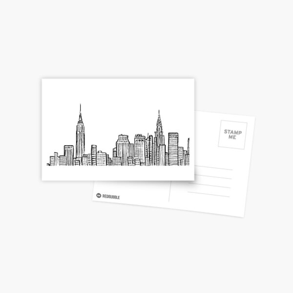 City skyline Postcard