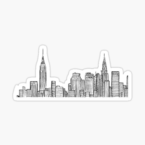 City skyline Sticker