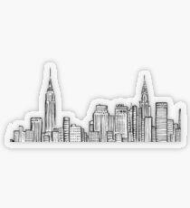 City skyline Transparent Sticker