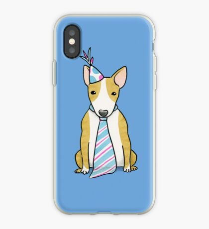 Party Hat Puppy Dog - English Bull Terrier iPhone Case
