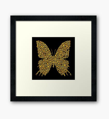 Golden butterfly Framed Print