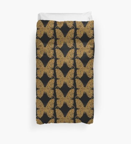 Golden butterfly Duvet Cover