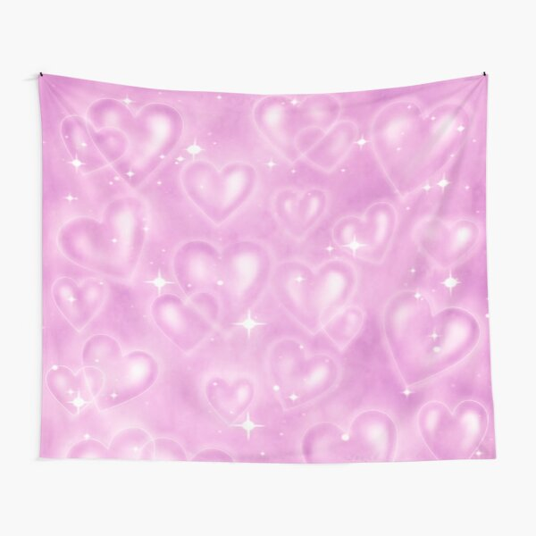 PINK 90S HEART BACKDROP  Tapestry
