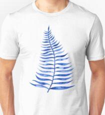 Navy Palm Leaf Unisex T-Shirt