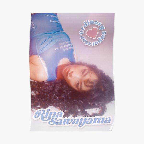 """Rina Sawayama """"Ordinary Superstar"""" Pink and Baby Blue Design Poster"""