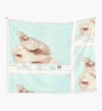 USGS TOPO Map Hawaii HI Hawaii North 349921 1961 250000 Wall Tapestry