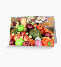 Vegetables and Fruits. Greeting Card
