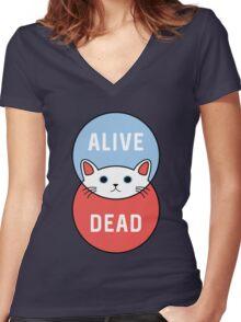 Schrodinger's Cat! Women's Fitted V-Neck T-Shirt