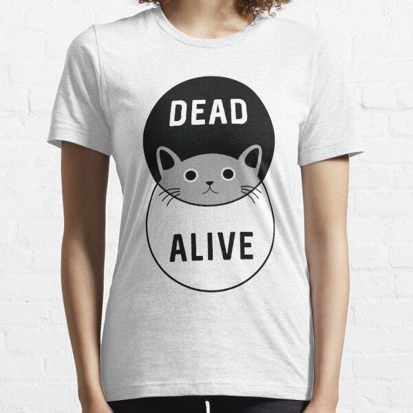 El gato de Schrodinger: ¡vivo o muerto! Camiseta esencial
