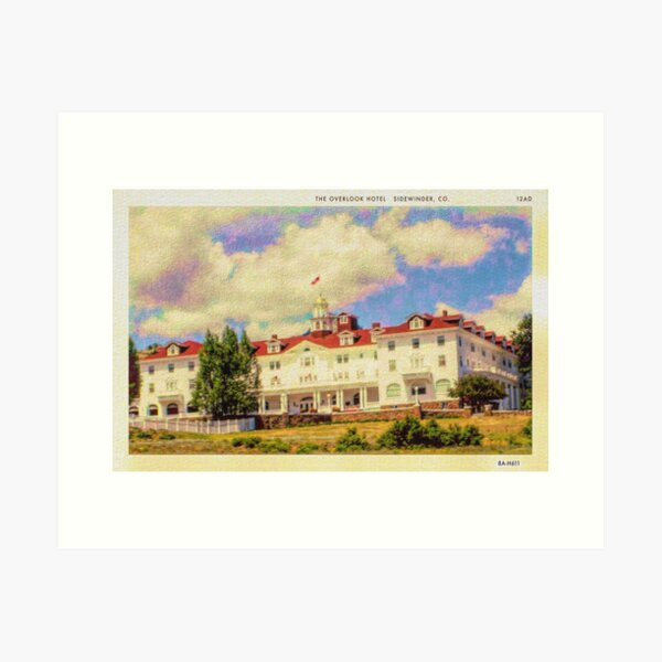 Vintage Overlook Hotel Postcard Stephen King's The Shining - REDRUM Art Print