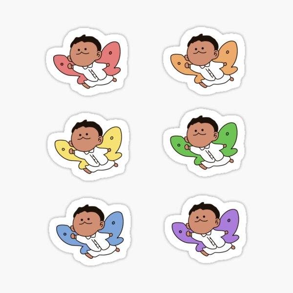 Phil comme un papillon | The Promised Neverland | Lot de 6 autocollants Sticker