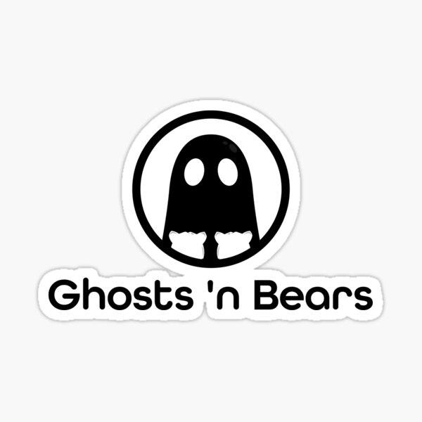 Ghosts 'N Bears Podcast Logo Sticker