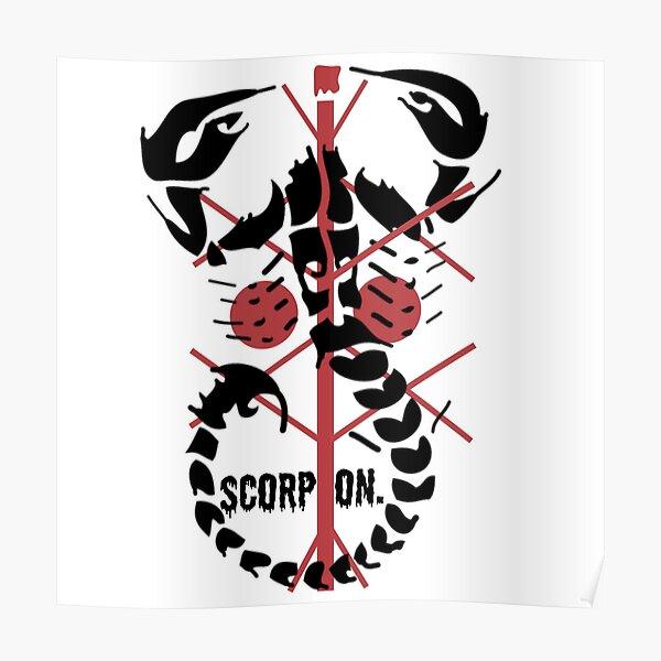 Tatouage scorpion berbère Poster